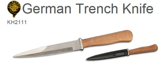 Hanwei KH2111 German WWII Trench Knife (Online Only)