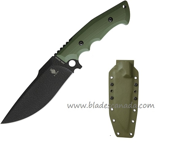 Kizer 1023A2 Salient E613 Fixed Blade - Green