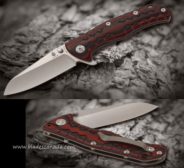 Kizer Cutlery 405 Folder S35VN Red & Black G-10