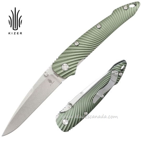 Kizer Cutlery 4419A3 Folder S35VN - Green
