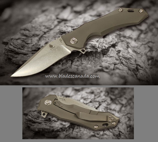 Kizer Uprising Framelock Folder, S35VN, Titanium Handle Ki4491A1