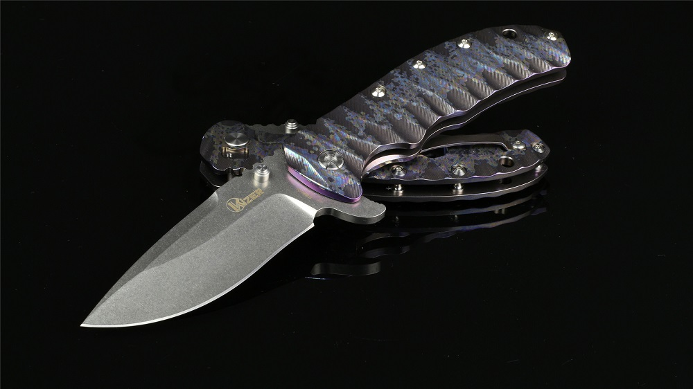 Kizer Cutlery 5401A2 Folder S35VN Titanium Framelock - Purple