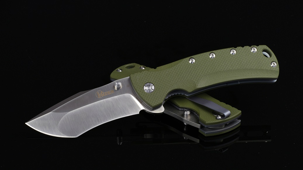 Kizer Cutlery 5414A1 Folder S35VN - Green G-10 Handle