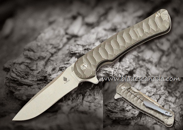 Kizer Cutlery 5466A2 Dukes S35VN Grooved Titanium Framelock
