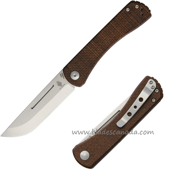 Kizer Vanguard V3009N2 Pinch N690 - Brown Micarta