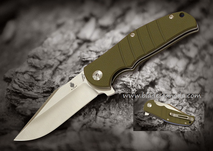 Kizer Vanguard V4468A2 Intrepid - Green G-10