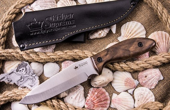 Kizlyar KK0051 Flint AUS8 Stonewash - Walnut Handle