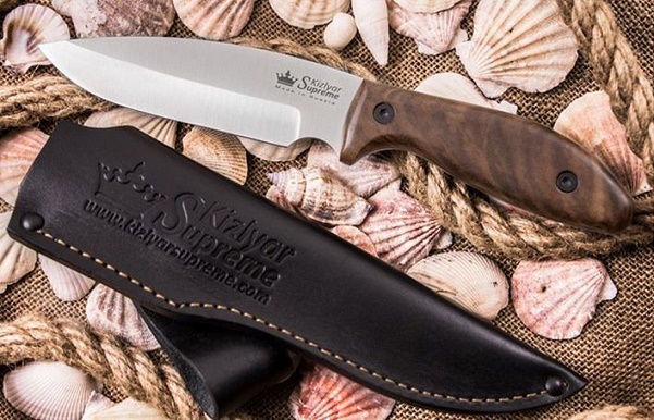 Kizlyar KK0094 Fortuna AUS8 Stonewash - Walnut Handle