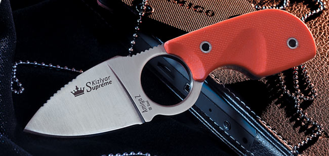 Kizlyar KK0098 Amigo-Z Satin D2 Neck Knife (Online Only)