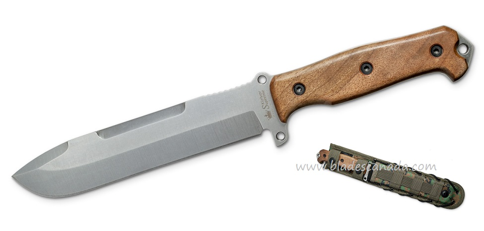 Kizlyar KK0241 Survivalist AUS-8 Walnut Handle w/ MOLLE Sheath