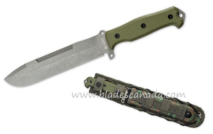 Kizlyar KK0242 Suvivalist D2 TacWash, Green G10 Handle