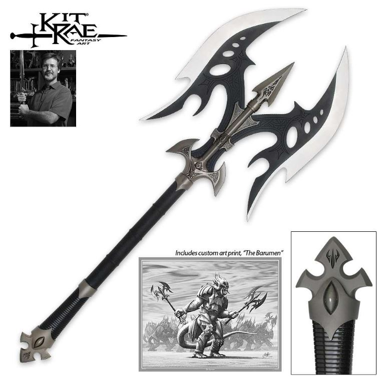 United Kit Rae KR0022B Black Legion Battle Axe (Online Only)