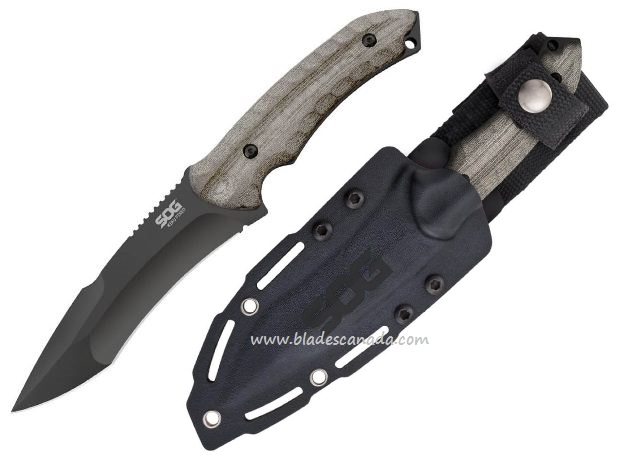 "SOG KU2002 KIKU Fixed 4.5"" Black TiNi"