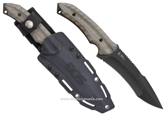 "SOG KU2012 KIKU Fixed Large 5.5"" Black TiNi"