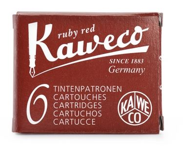 Kaweco Fountain Ink Cartridge 6-Pack - Ruby Red
