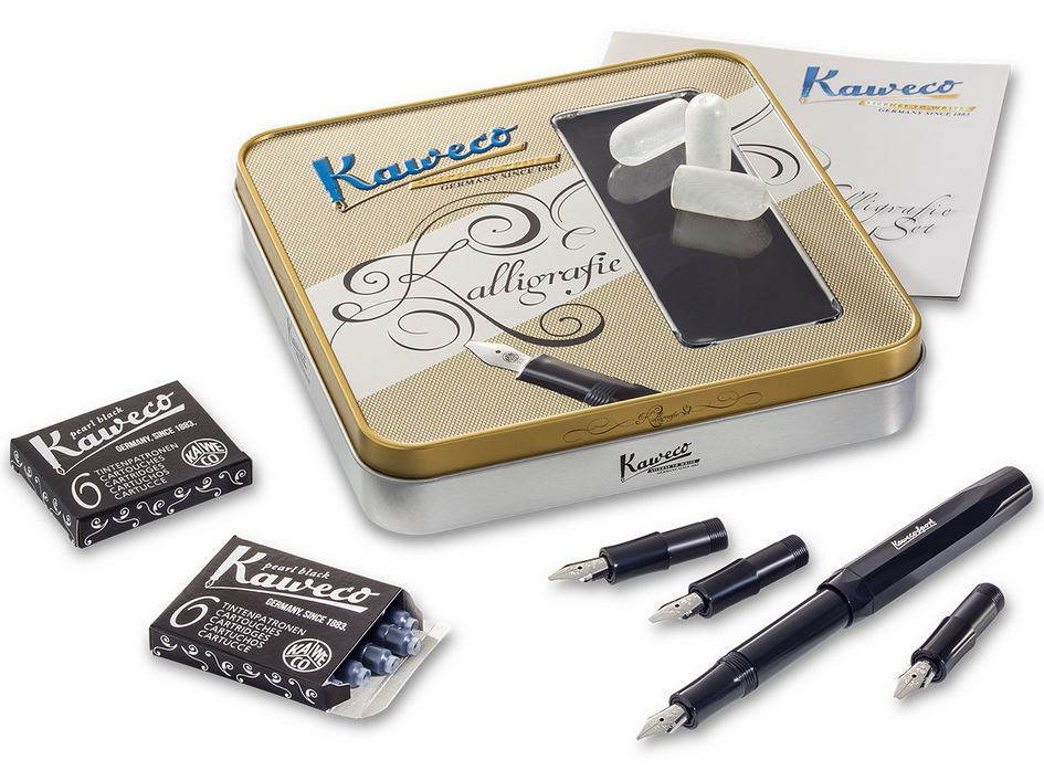 Kaweco Calligraphy Set Black in Tin