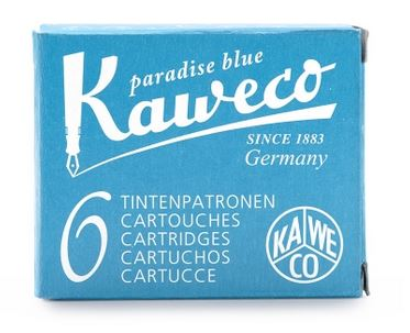 Kaweco Fountain Ink Cartridge 6-Pack - Paradise Blue