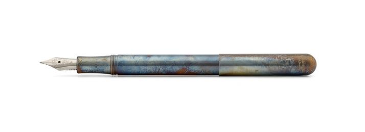 Kaweco Liliput Fountain Pen Stainless Steel Fireblue - Fine