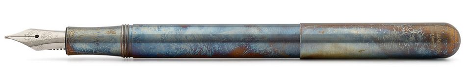Kaweco Liliput Fountain Pen Stainless Steel Fireblue - Medium