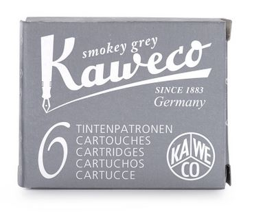 Kaweco Fountain Ink Cartridge 6-Pack - Smokey Grey