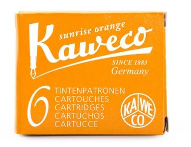 Kaweco Fountain Ink Cartridge 6-Pack - Sunrise Orange
