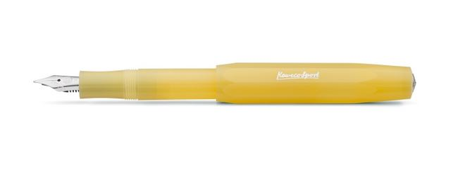 Kaweco Frosted Sport Fountain Pen Sweet Banana - Medium