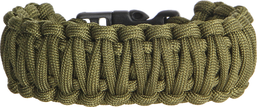 Knotty Boys 102 Paracord Bracelet OD Green - Large