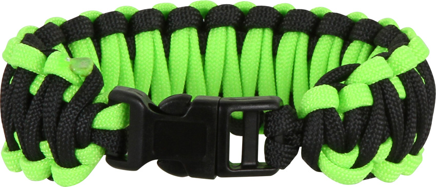Knotty Boys 103 Paracord Bracelet Black/Neon Green - Large