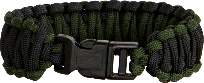 Knotty Boys 106 Paracord Bracelet Black/OD Green - Large