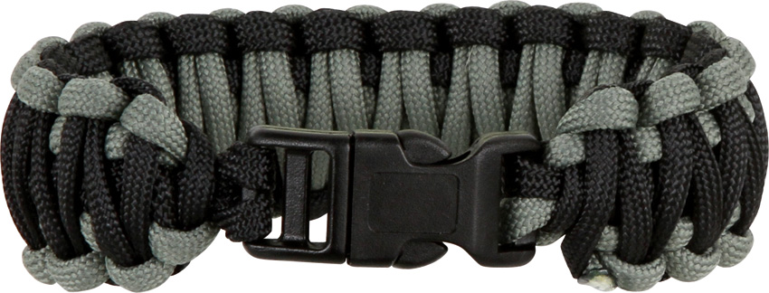 Knotty Boys 108 Paracord Bracelet Black/Foliage Green - Large