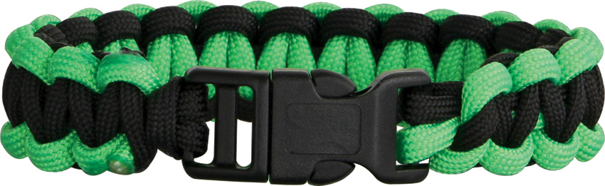 Knotty Boys 203 Paracord Bracelet Black/Neon Green - Large