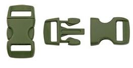 Paracord Small Buckle 4-Pack [OD Green]