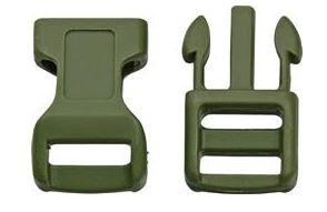 Paracord Large Buckles 4-Pack [OD Green]
