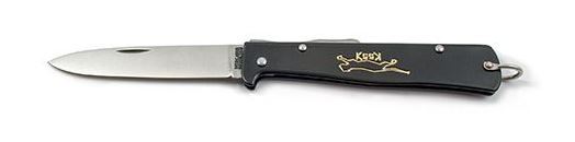 OTTER-Messer Mercator Black Cat L154 Folder - Carbon Steel