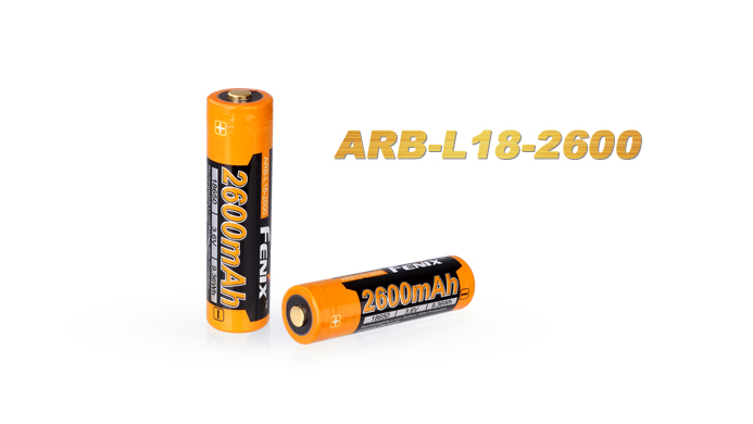 Fenix ARB-L18 Rechargeable 18650 Battery - 2600mAh