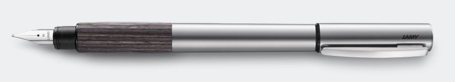 Lamy Accent Fountain Pen - Aluminum With Grey Wood Grip