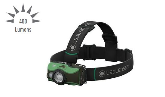 LED Lenser MH8 USB REchargeable Headlamp - 400 Lumens