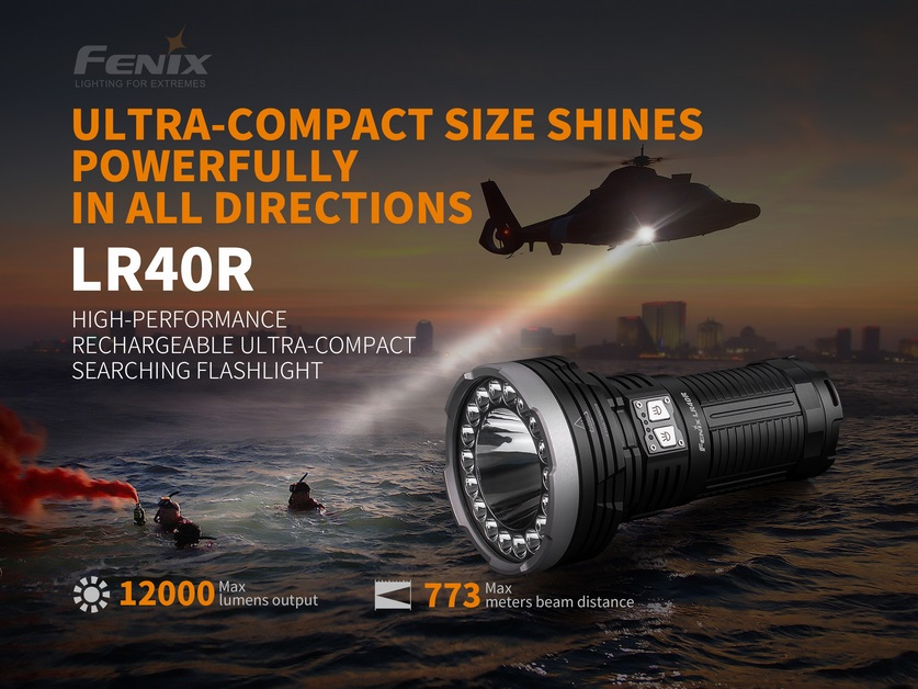 Fenix LR40R Compact Searchlight Flashlight - 12000 Lumens