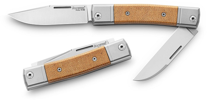 Lion Steel BM13CVN BestMAN Slipjoint Double - Natural Micarta