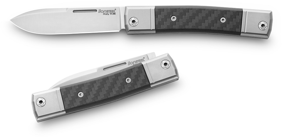 Lion Steel BM2 CF BestMAN Slipjoint Single Drop Point- Carbon Fiber