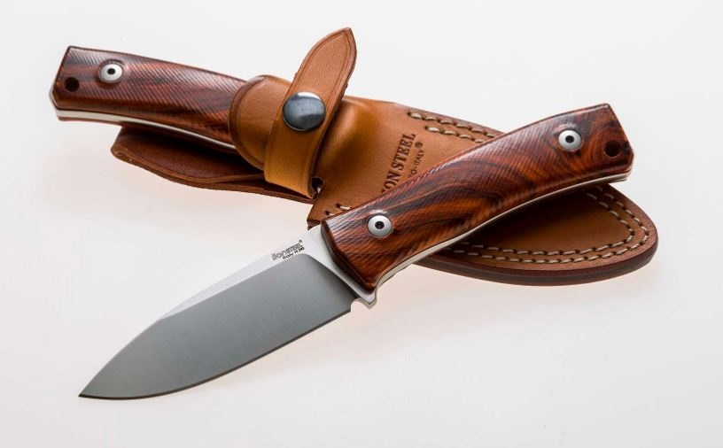 Lion Steel M4ST Santos Wood Handle, M390 w/ Leather Sheath