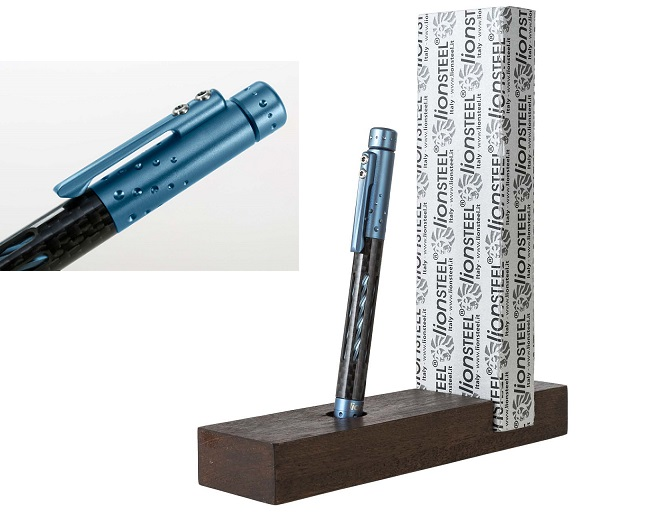 Lion Steel Nyala Pen Carbon Fibre - Blue Matte