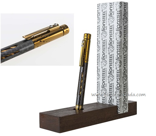 Lion Steel Nyala Pen Carbon Fibre - Bronze Shine