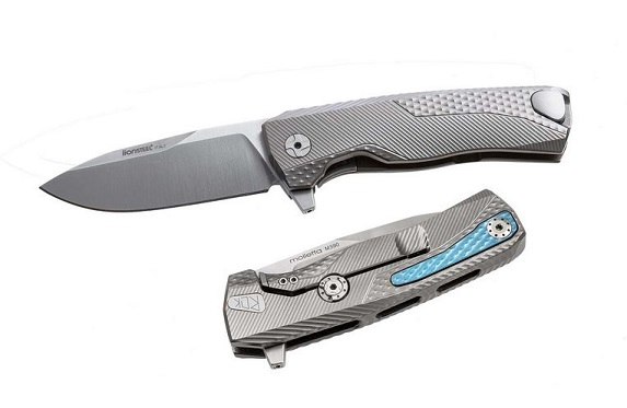 Lion Steel ROK-G ROK Titanium Grey, Satin Blade
