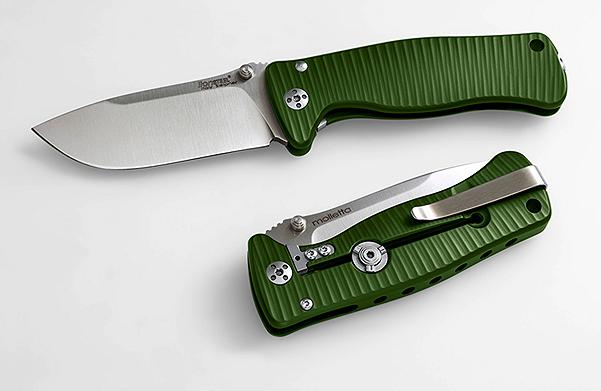 Lion Steel SR2 Mini - Green Aluminium Handle, Satin Blade