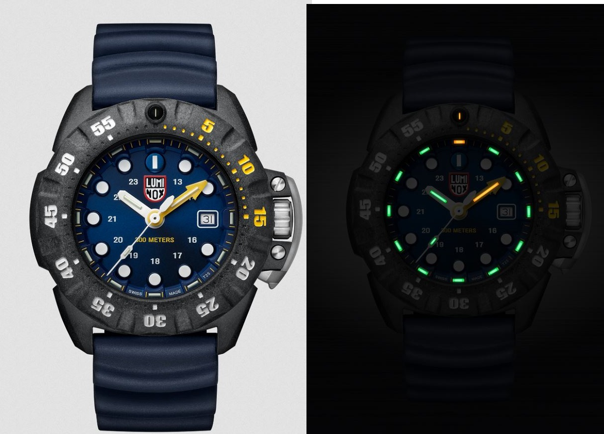 Luminox 1553 Scott Cassell Deep Dive - Blue/Yellow