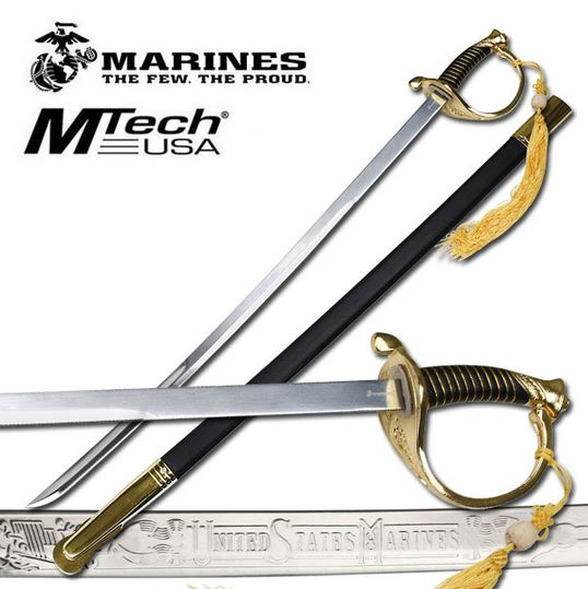 MTech M-1035G US Marines Display Sword - Gold (Online Only)