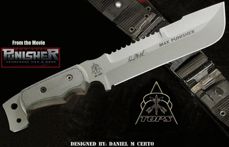 TOPS M4X01 M4X Punisher w/Nylon Sheath (Online Only)