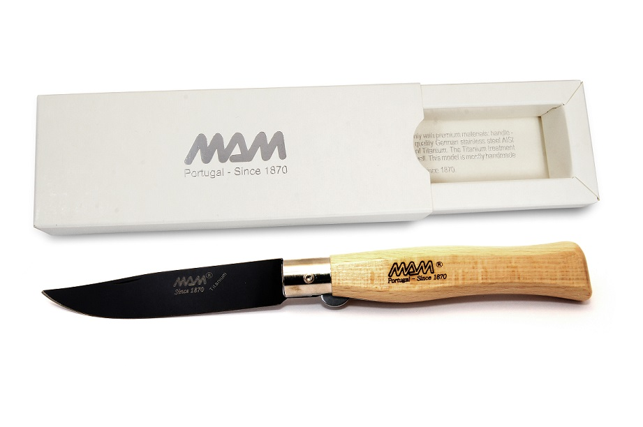 MAM 2064 Hunter's Pocket Knife Beechwood - Black Ti