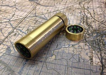 Maratac Brass Match Capsule with Compass